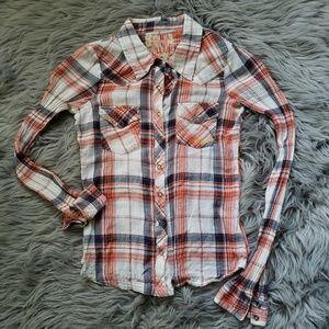 Billabong Womens Snap Button Up Cotton Flannel